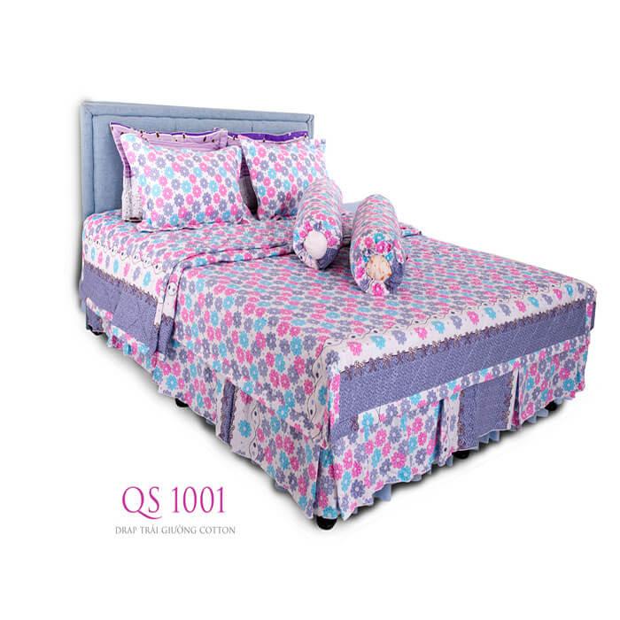 Drap trải giường cotton QS 1001 Vạn thành