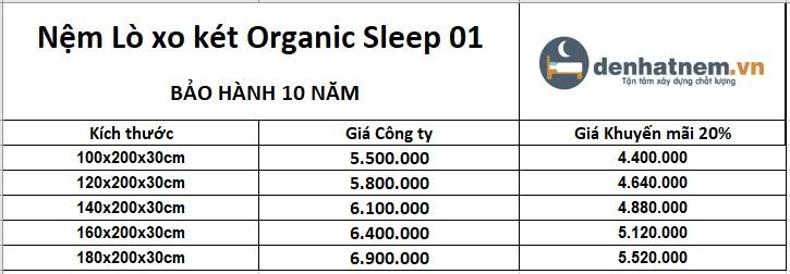 Organic Sleep 01 hiện được khuyến mãi 20% + quà hấp dẫn
