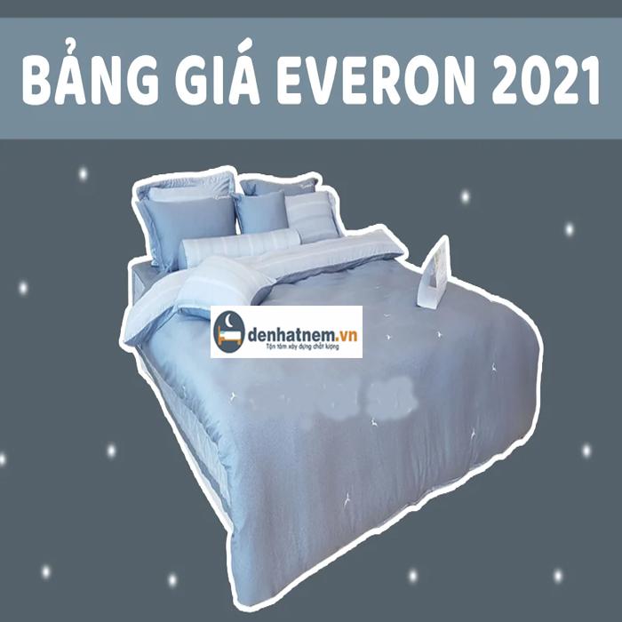 Bảng giá chăn ga gối Everon khuyến mãi năm 2021