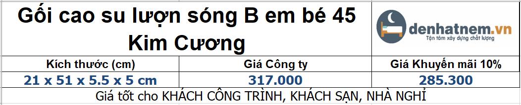 Bảng giá gối lượn sóng B em bé 45
