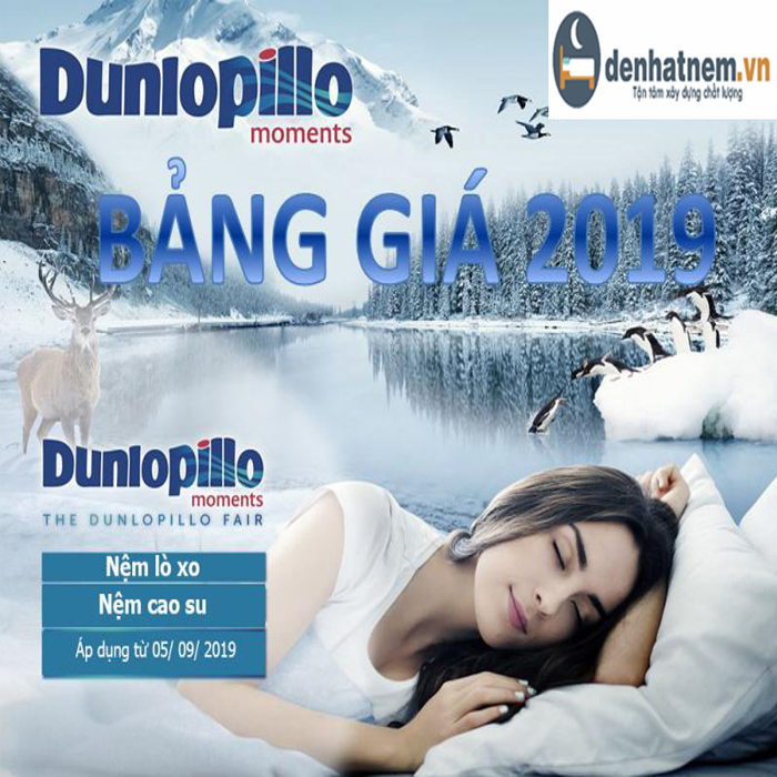 Bảng giá nệm Dunlopillo mới nhất với nhiều ưu đãi lớn