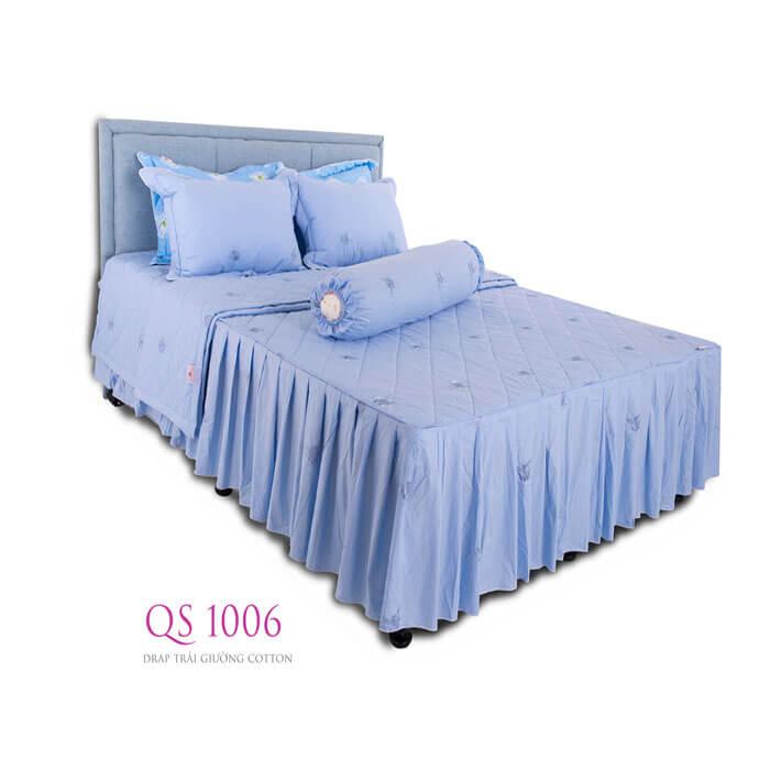 Drap trải giường cotton QS 1006 Vạn Thành