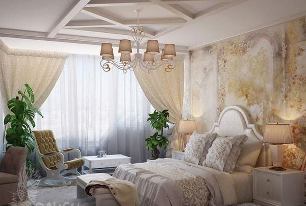 Không đặt đèn chùm bên trên đầu giường ngủ