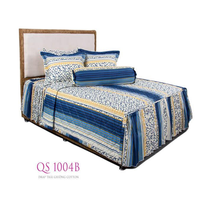 Drap trải giường cotton QS 1004B Vạn Thành