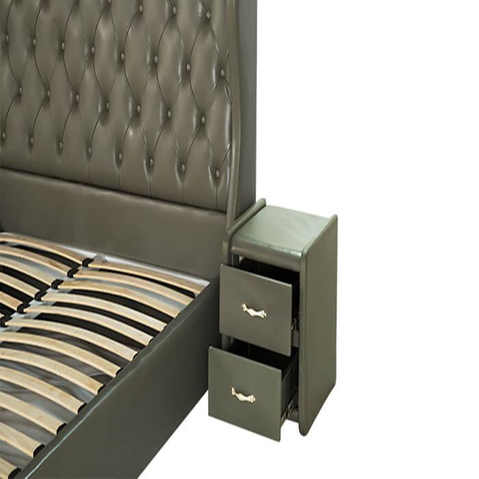 giường truyền thống diamond 01 với chất liệu gỗ tự nhiên