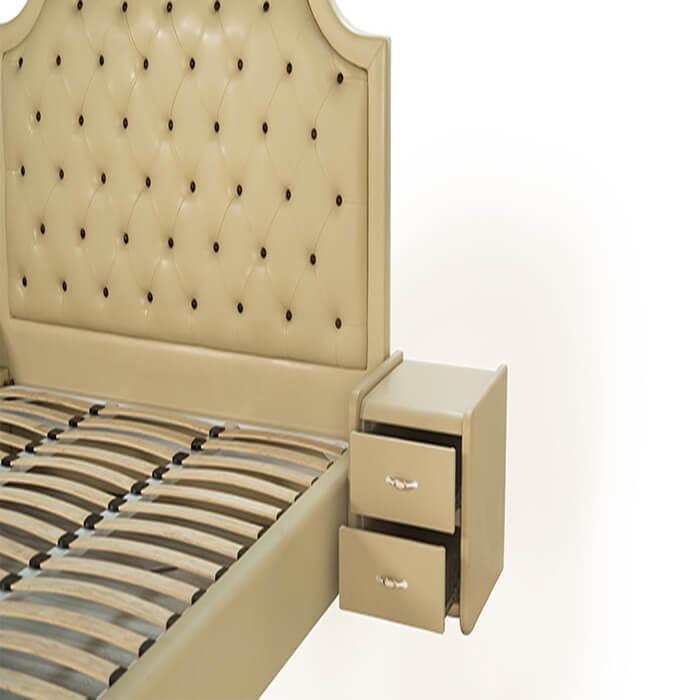 Giường truyền thống Diamond 02 với chất liệu gỗ tự nhiên