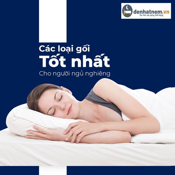 Loại gối nào tốt nhất cho người ngủ nghiêng ?