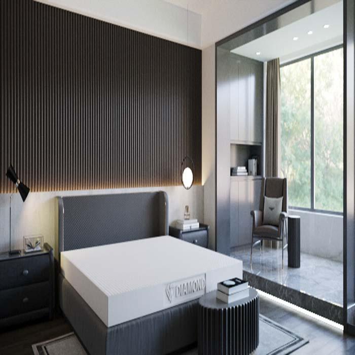 Nệm giúp tôn lên vẻ đẹp sang trọng và đẳng cấp phòng ngủ của bạn