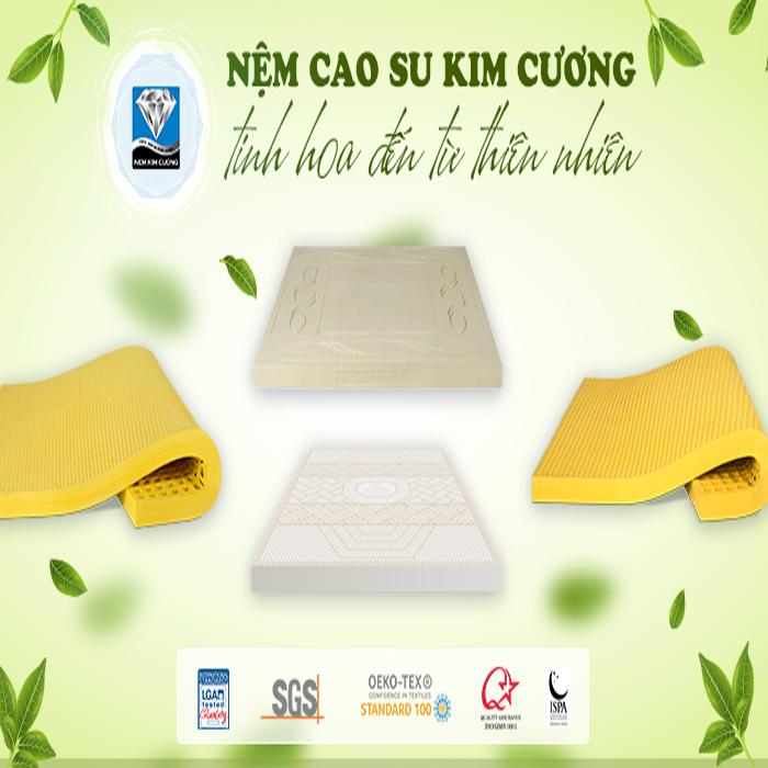 5+ lý do nên chọn nệm cao su thiên nhiên Kim Cương