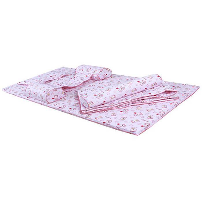 Nệm em bé Diamond Angle - bé gái màu hồng