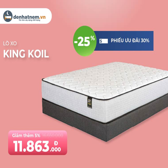 [HOT] Bảng giá nệm lò xo King Koil khuyến mãi mới nhất