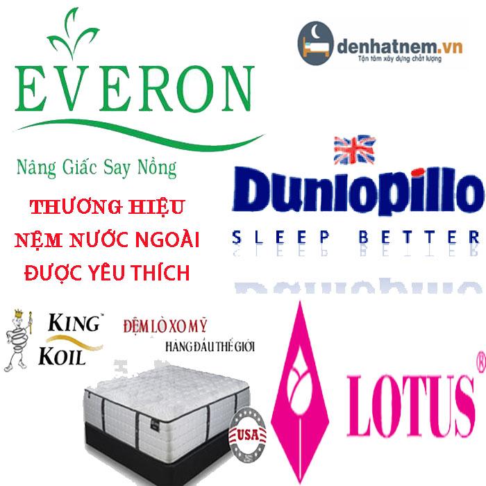 Top thương hiệu nệm nước ngoài được yêu thích nhất tại Việt Nam
