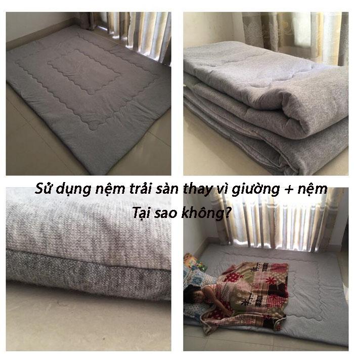 Sử dụng nệm trải sàn thay cho giường và nệm, tại sao không??