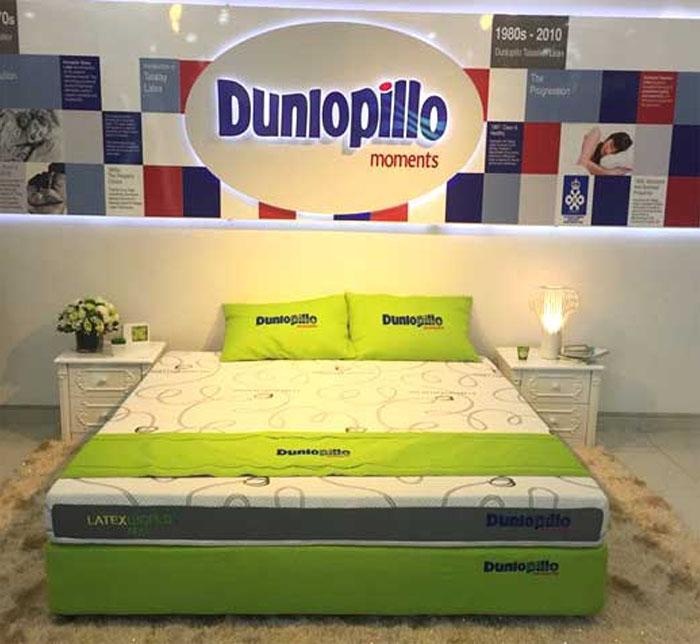 Nệm lò xo và cao su của Dunlopillo phủ rộng khắp cả nước